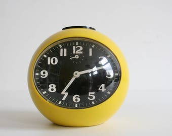 Super Retro Blessing Yellow/Black Alarm Clock Germany Collectible