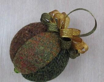 Harris Tweed Woodland Mix Luxury Christmas Tree Bauble   #107