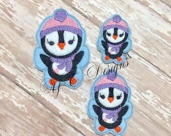 Pingouin pingouin Feltie Cutie Feltie broderie fichier