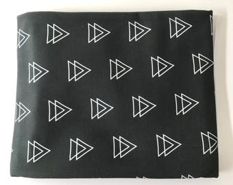 Gray Triangle Arrows Super Soft Stretch Jersey Swaddle Receiving Infant Blanket
