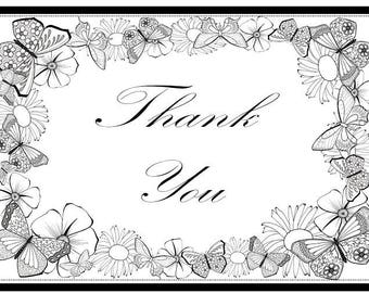 Thank you instant download printable card