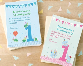 Personalised First Birthday Party Invitations