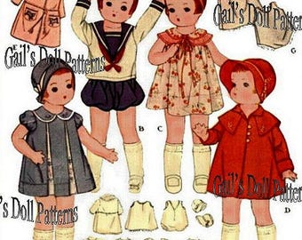 "Vintage McCalls 14"" Chubby Doll Clothes Pattern #1919"