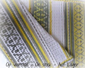 "Crocheted Baby Blanket  ""Sunny Grey"""