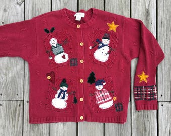 Vintage Old Ugly Christmas Sweater