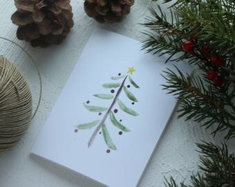 Holiday Greeting Card - Christmas Tree Card, Merry Christmas, Merry Everything, Joy to All, Happy Everything, Happy Holidays, Christmas Card