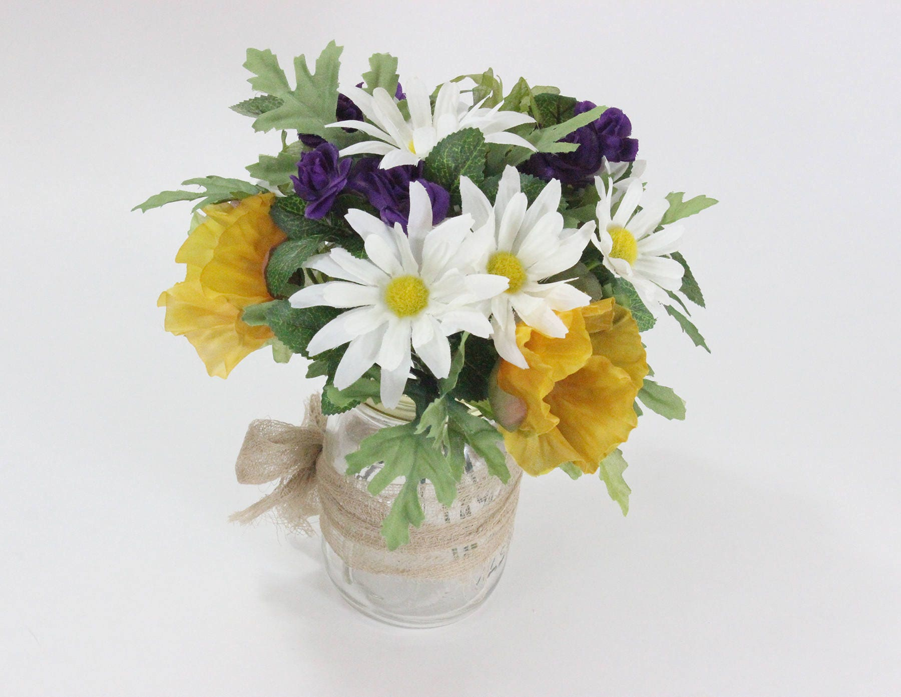 Silk Flower Arrangement, Wedding Centerpiece, Table Centerpiece ...