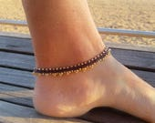 Beaded Anklet, Beach Anklet Bracelet, Foot Jewelry, Lace Seed Beads Anklet, Gift For Her
