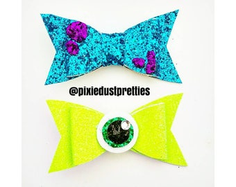 Monsters inc glitter clips, monsters Inc,  monsters, Mike, sulley, glitter clip,  glitter
