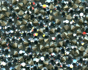 1028 PP32 cc *** 30 Swarovski rhinestones point back PP32 (4,05mm) crystal comet argent light f