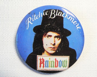 BIG Vintage 1970s Ritchie Blackmore - Rainbow - Pin / Button / Badge