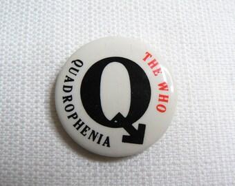 Vintage 70s - The Who - Quadrophenia Album (1973) - Pin / Button / Badge