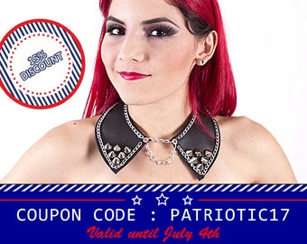 Peter pan collar, spiked necklace, gothic necklace, peter pan necklace, detachable collar, choker necklace, chain choker, spiked chocker