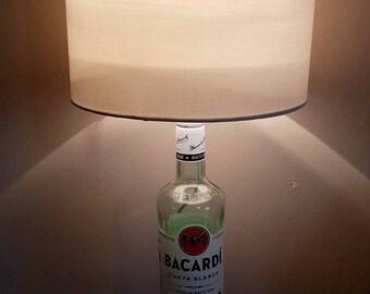 Lovely Bacardi Rum bottle lamp