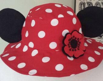 Mickey Bucket Hat / Minnie Sun Hat / Adult Disney Sun Hat / Mickey Ears Hat