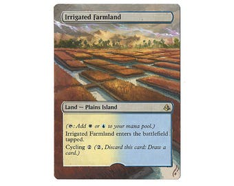 Hand Painted Altered MTG Irrigated Farmland Extension