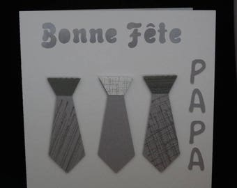 Gray tie father's Day card