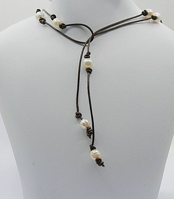 Pearl Leather Lariat Long Wrap Necklace 3rd Anniversary Gift. Sparkly Anklet. Beach Style Anklet. Body Chain Anklet. Pearl Ring Anklet. Fine Anklet. Silver Plain Anklet. Arab Anklet. Lotus Flower Anklet