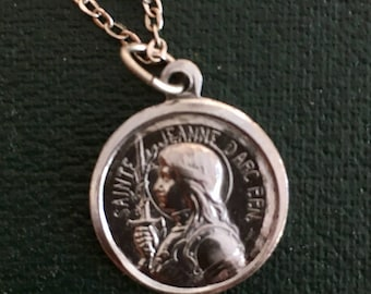 French Vintage Joan of Arc necklace