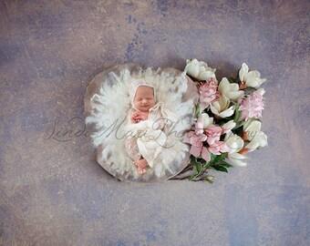 Digital Backdrop Newborn Prop Purple Flower Stroke Prop