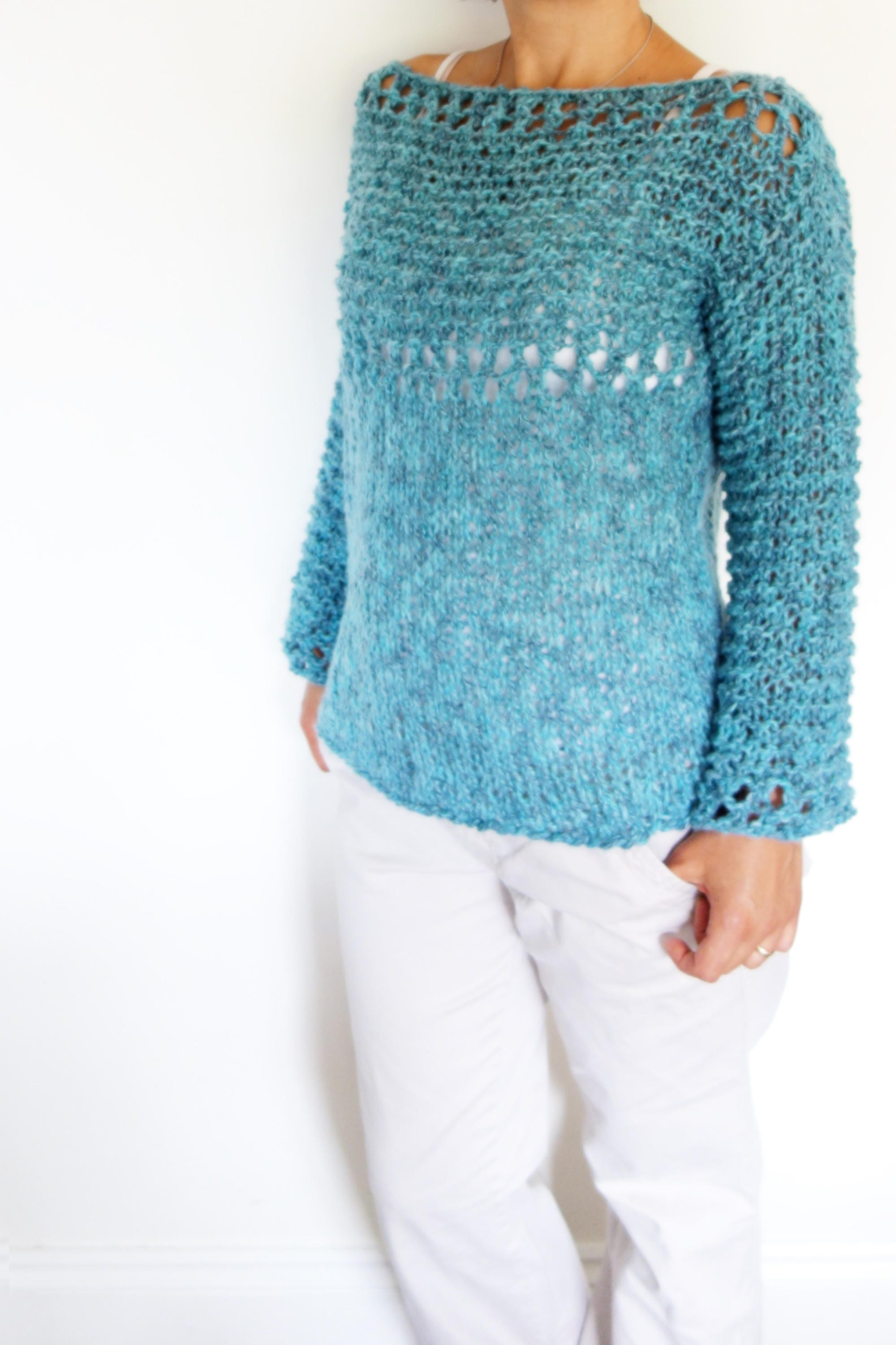 Sweater knitting pattern lagoonloose knit sweater open knit this is a digital file bankloansurffo Choice Image