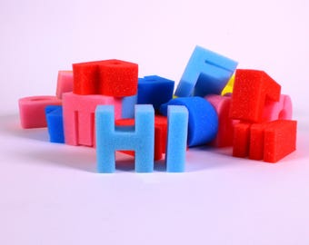 Alphabet Sponge Letters Washable Painting Foam Uppercase Letter Set