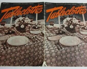Vintage Tablecloths, J & P Coats' and Clark's Thread, Book No. 4