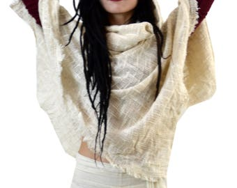 hoodie poncho conscious clothing hooded poncho cape hooded poncho women ombre hippie poncho Pixie Hoody Pixie top poncho hooded cowl