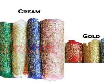 Vintage Lace Floral Scarf Choice of Nine Color 274.32 cm. X 15 in.