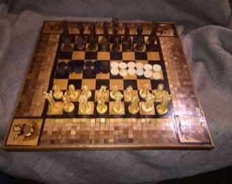 Inlaid Checker Chess board