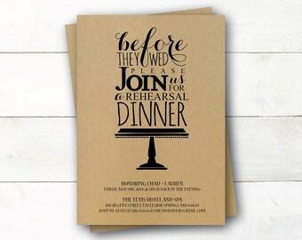 Printable Rehearsal Dinner Invitation - Cake Stand