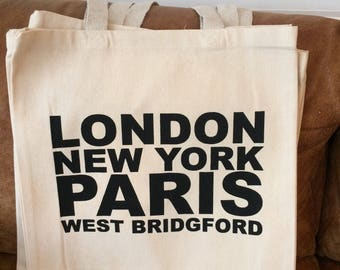 London, Paris, New York, West Bridgford Bag