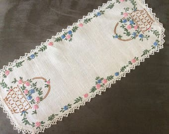 Embroidered Dresser Scarf