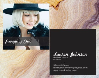 Full Photo Square Business Card | Moo.com Compatible