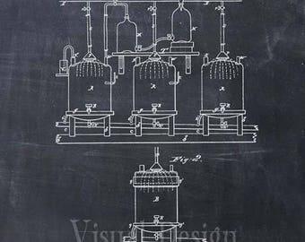Patent Print - Brewing Beer and Ale Art Print from 1873 - Patent Poster - Beer - Beer Art - Beer Decor - Bar - Beer Print - Beer Keg