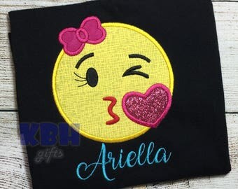 Embroidered Emoji Shirt