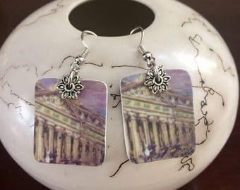 Hotel Room Key Card Earrings/Reclaimed Earrimgs/Upcycled Repurposed Recycled Earrings
