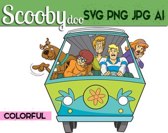 Scooby doo Svg Colorful,  Scooby doo digital clipart,Scooby doo svg,Scooby doo png