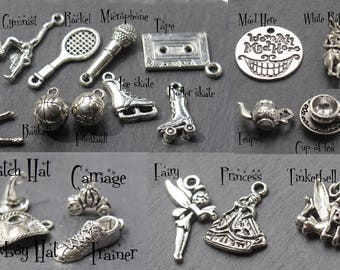 ADD ON ONLY. Charms Set 2 -  Add a charm. Personalise Your  Piece of Jewelry. Create your own custom Design | purchase as many as you like|