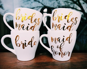 Bride Mug / Bridesmaid Mug / Maid of Honor Mug / Personalized Wedding Mug