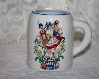 C5 Vintage Reutter Porzellan W Germany Bavaria Dancing German Couple Mug Coffee Cup