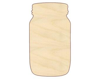 Mason Jar Shape - 170292 - Unfinished wood, various sizes