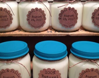 Baby Jar 100% Scented Soy Wax Candles Wedding/Shower Favors Custom-Made