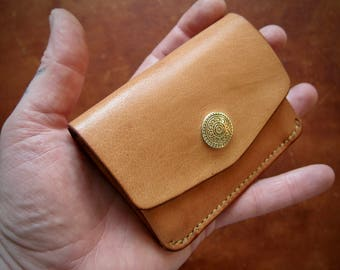 Horizontal Cards and Coins Wallet Brass Concho