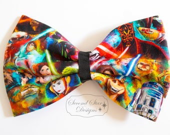 Mouse Ears/Hair Bow // Star Wars Inspired // Interchangeable Bow for Mouse Ears Headband or Hair