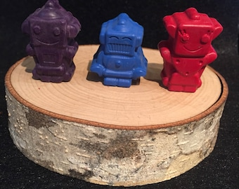 Robot Crayons. Party favor. Robot Space Party