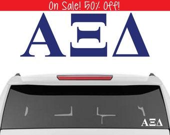 50% OFF!    Alpha Xi Delta Decal   Sorority Car Decals, Sorority Vinyl Decal, Sorority Laptop Decal, Sorority Decal