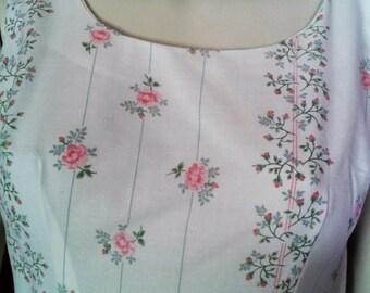 Sleeveless Summer Sundress with Full Skirt in the 1950s Style
