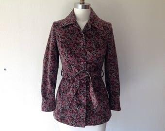 1970s Floral corduroy jacket