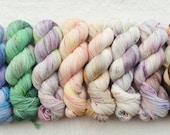 Nox ALUMNI Mini Skein set! 8x 20g minis in classic Nox Yarn co. colorways - choose your base - ready to ship!